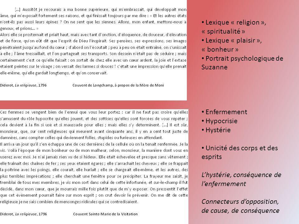 Lexique « religion », « spiritualité »
