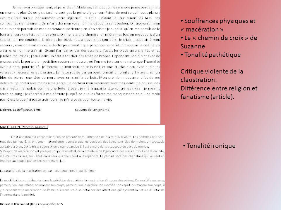 Souffrances physiques et « macération »