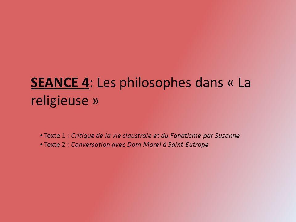 SEANCE 4: Les philosophes dans « La religieuse »