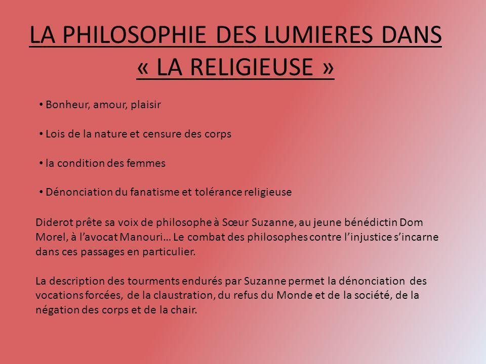 LA PHILOSOPHIE DES LUMIERES DANS « LA RELIGIEUSE »