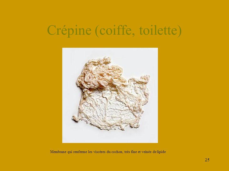 Crépine (coiffe, toilette)
