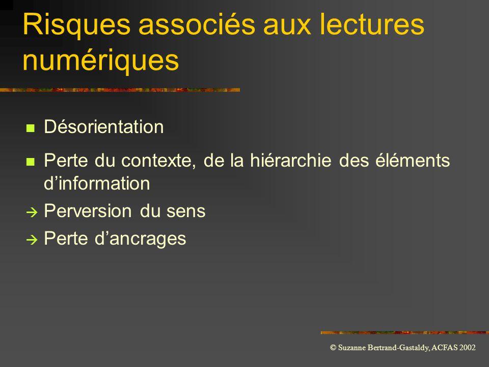 Risques associés aux lectures numériques