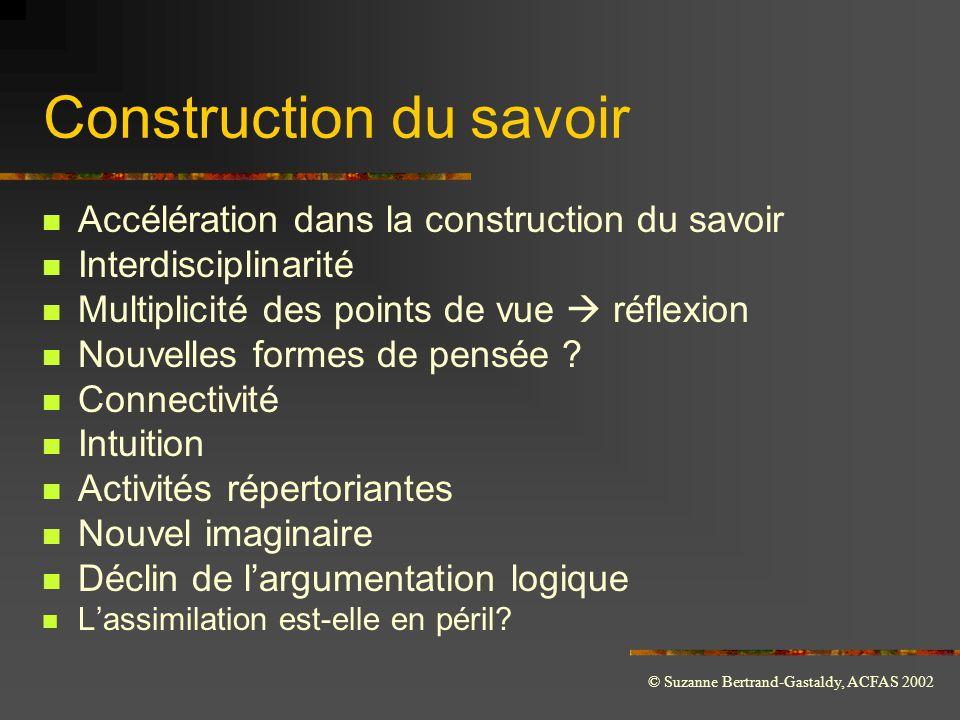Construction du savoir