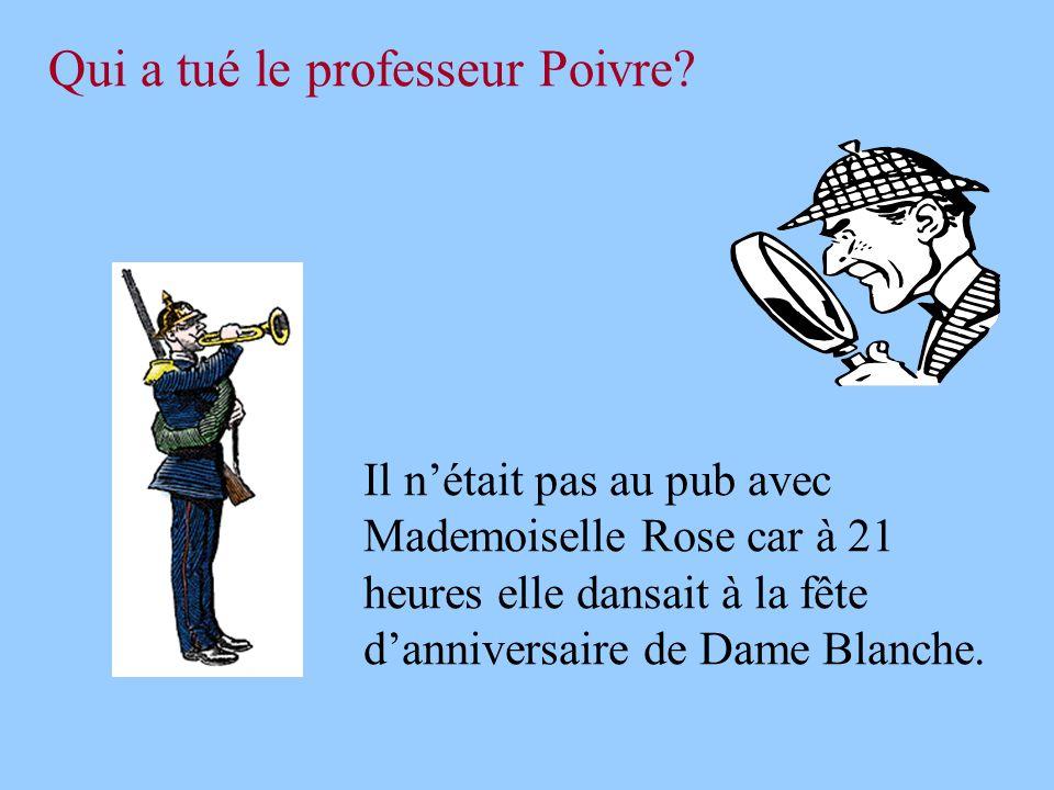 Qui a tué le professeur Poivre