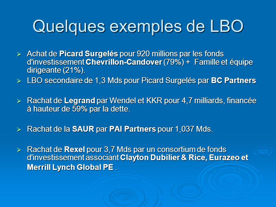 Quelques exemples de LBO