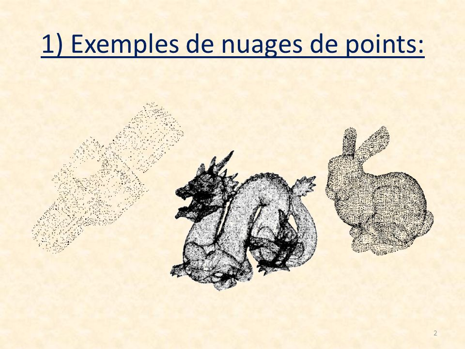 1) Exemples de nuages de points: