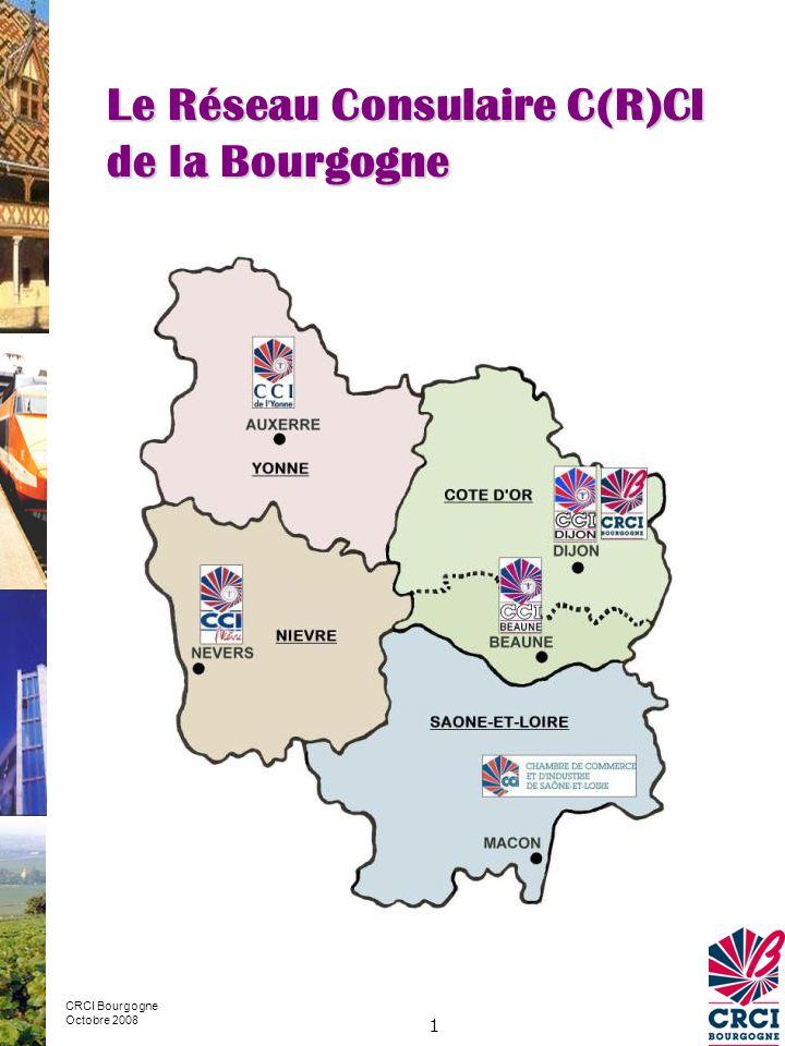 Le Réseau Consulaire C(R)CI de la Bourgogne
