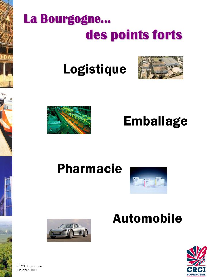 des points forts Logistique Emballage Pharmacie Automobile