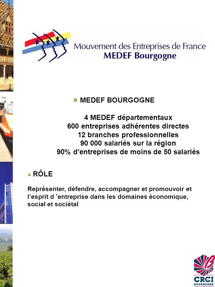MEDEF BOURGOGNE. 4 MEDEF départementaux