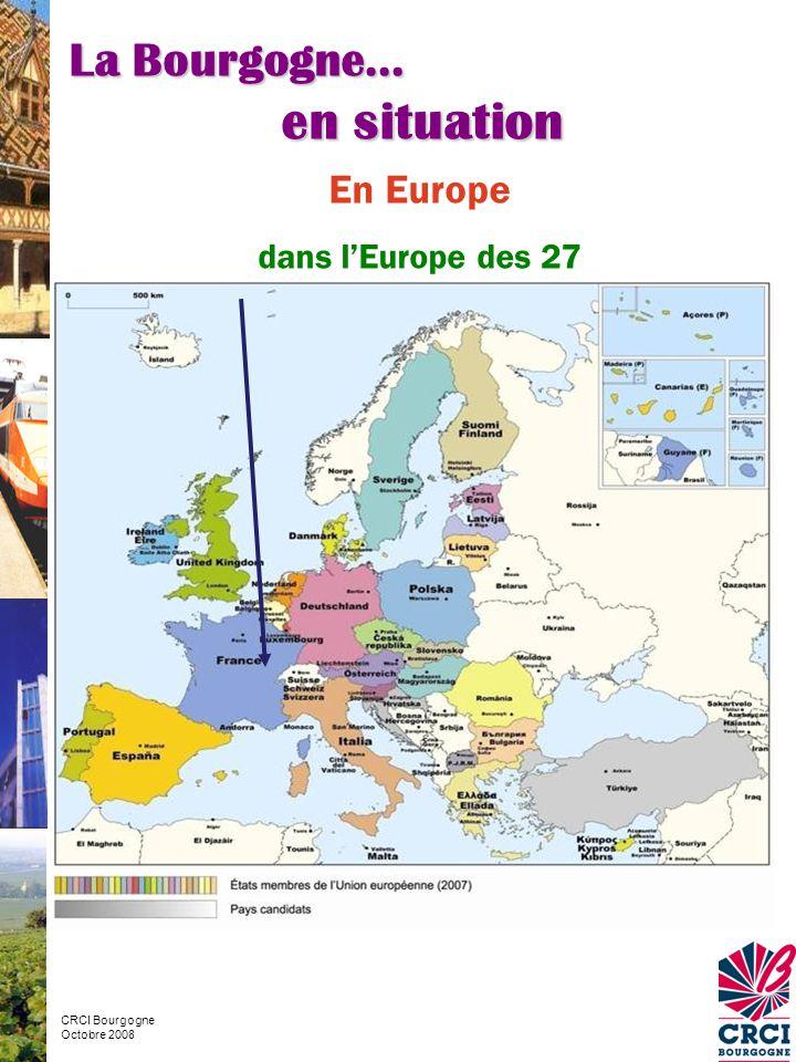 en situation La Bourgogne… En Europe dans l'Europe des 27