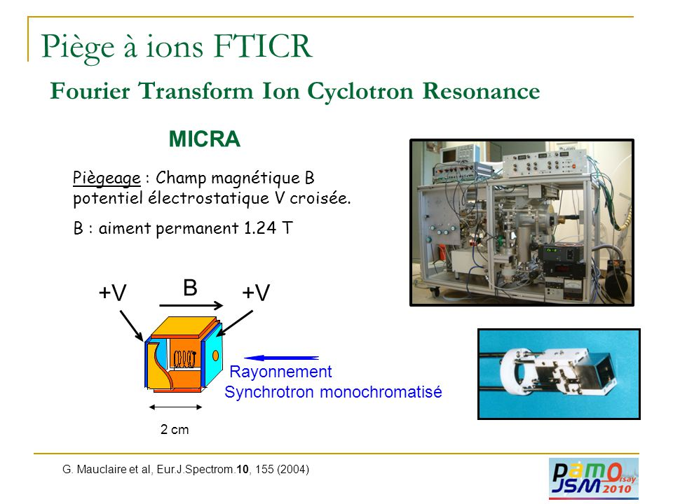 Piège à ions FTICR Fourier Transform Ion Cyclotron Resonance