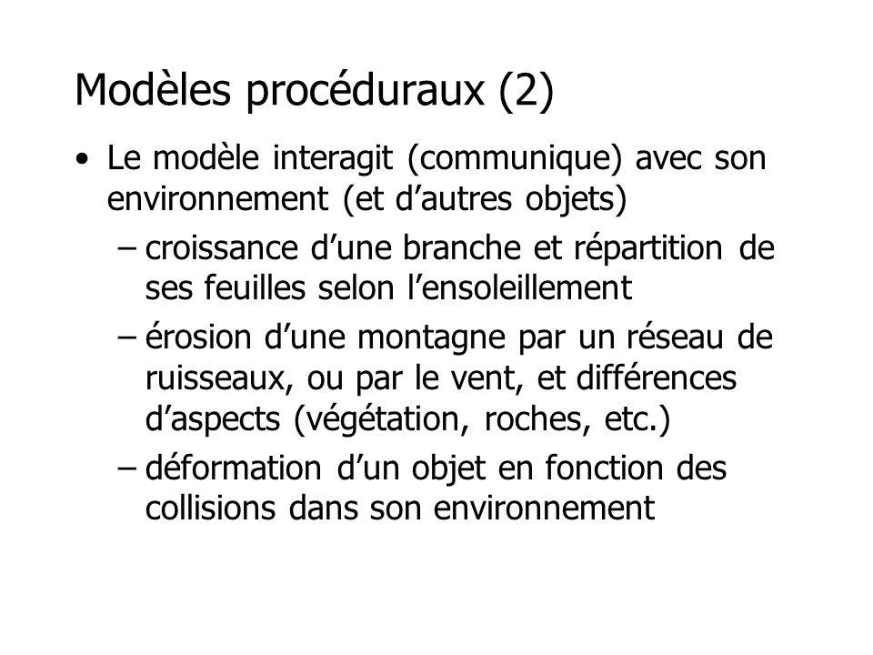 Modèles procéduraux (2)