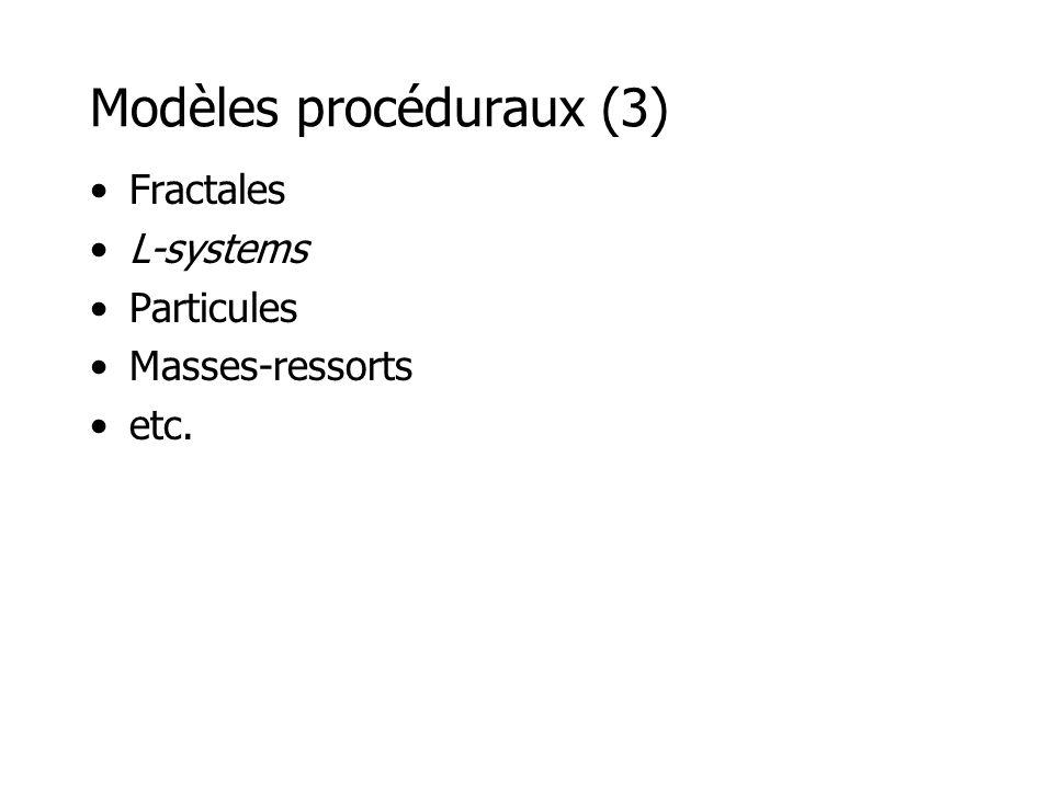 Modèles procéduraux (3)