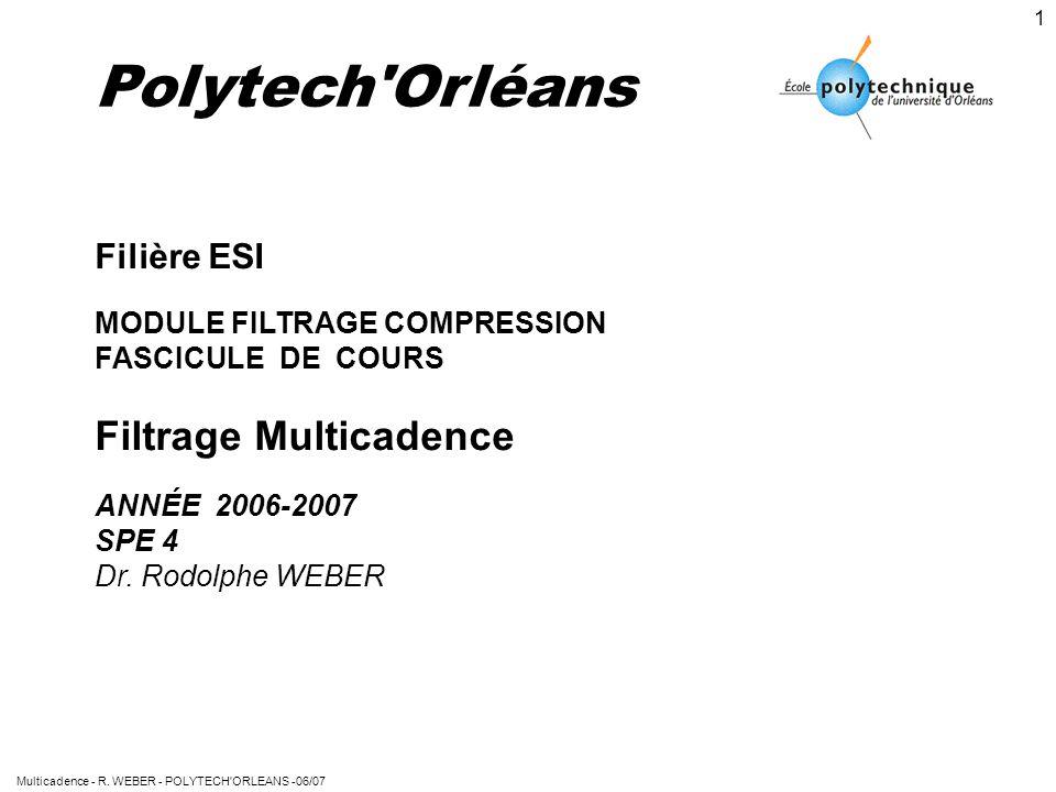 Polytech Orléans Filtrage Multicadence Filière ESI