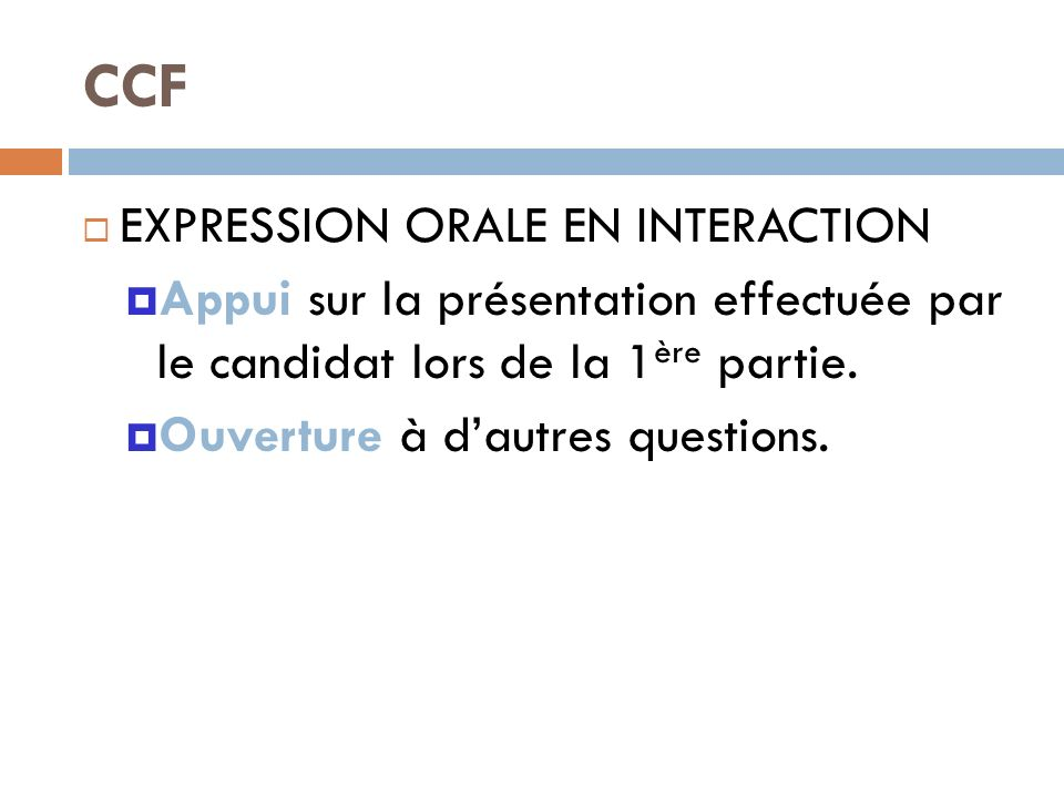 CCF EXPRESSION ORALE EN INTERACTION