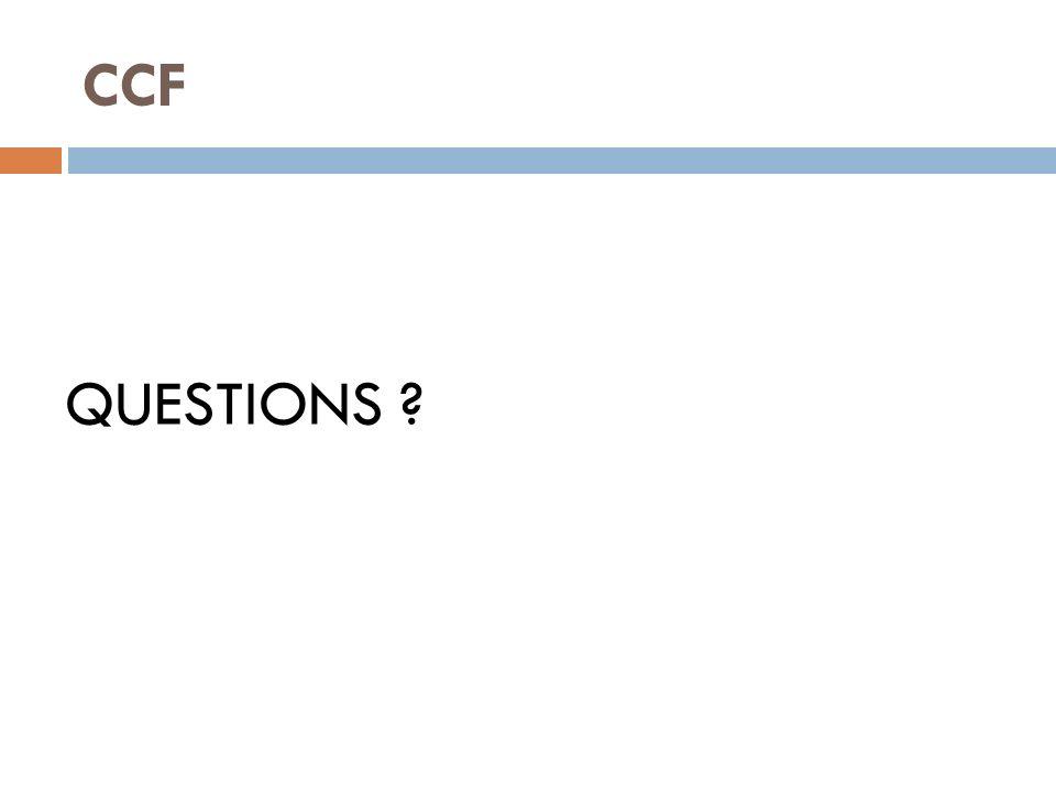 CCF QUESTIONS