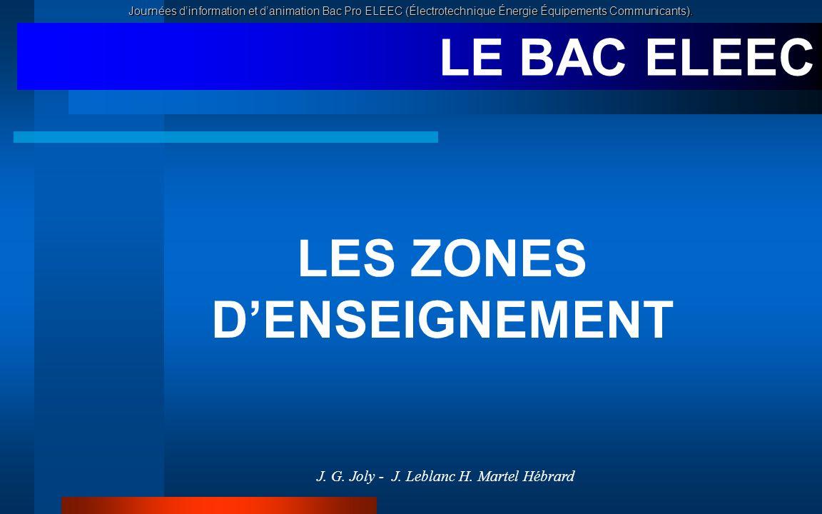 LES ZONES D'ENSEIGNEMENT