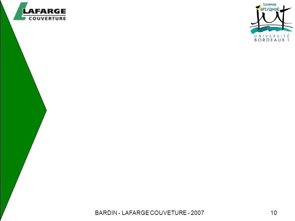 BARDIN - LAFARGE COUVETURE - 2007