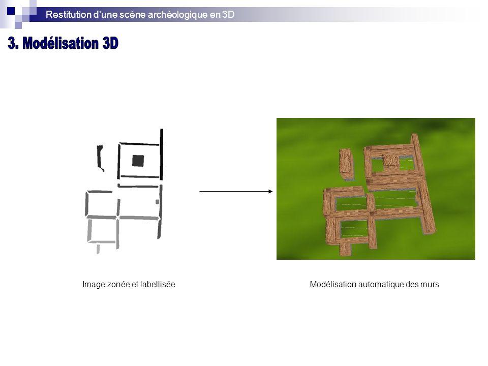 Restitution d'une scène archéologique en 3D