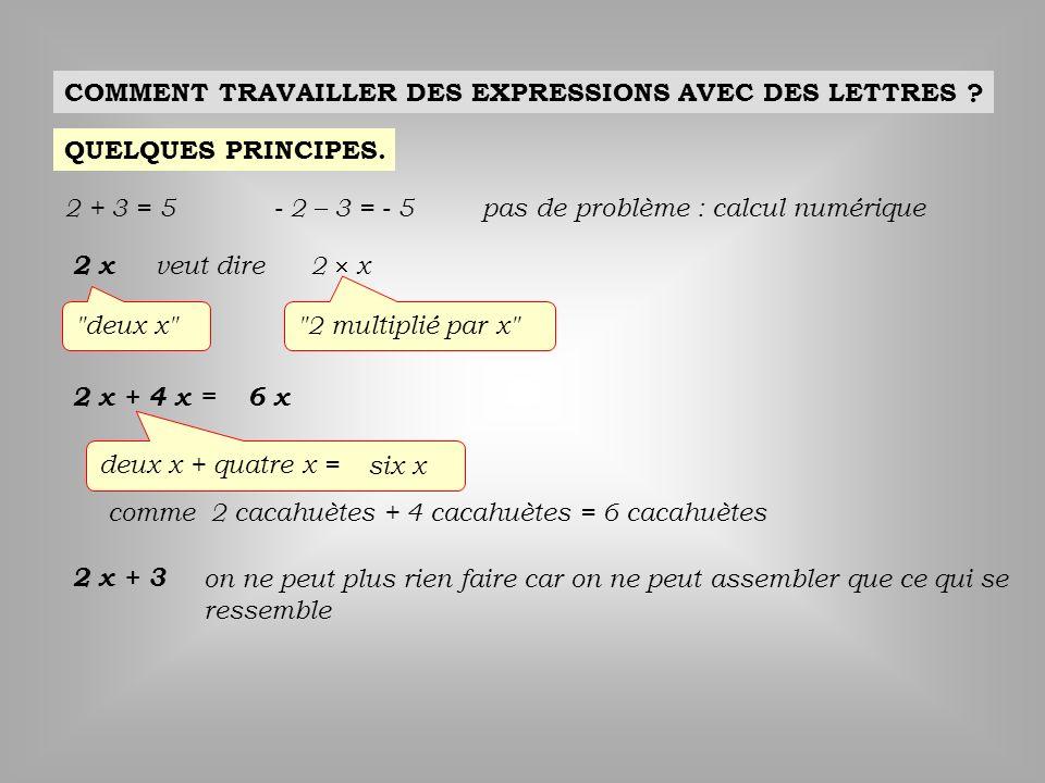 COMMENT TRAVAILLER DES EXPRESSIONS AVEC DES LETTRES
