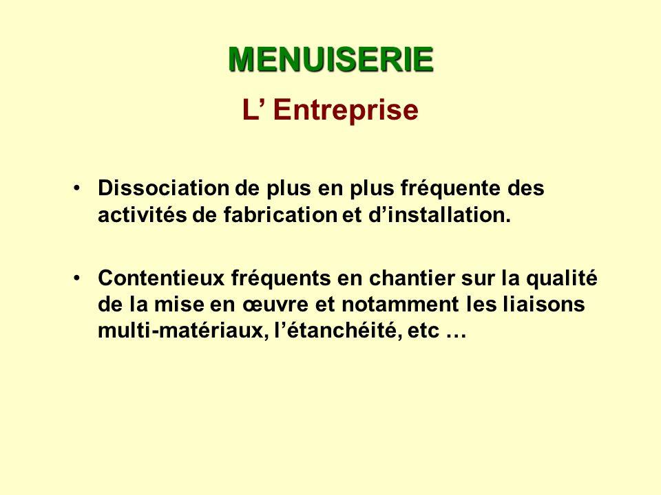 MENUISERIE L' Entreprise