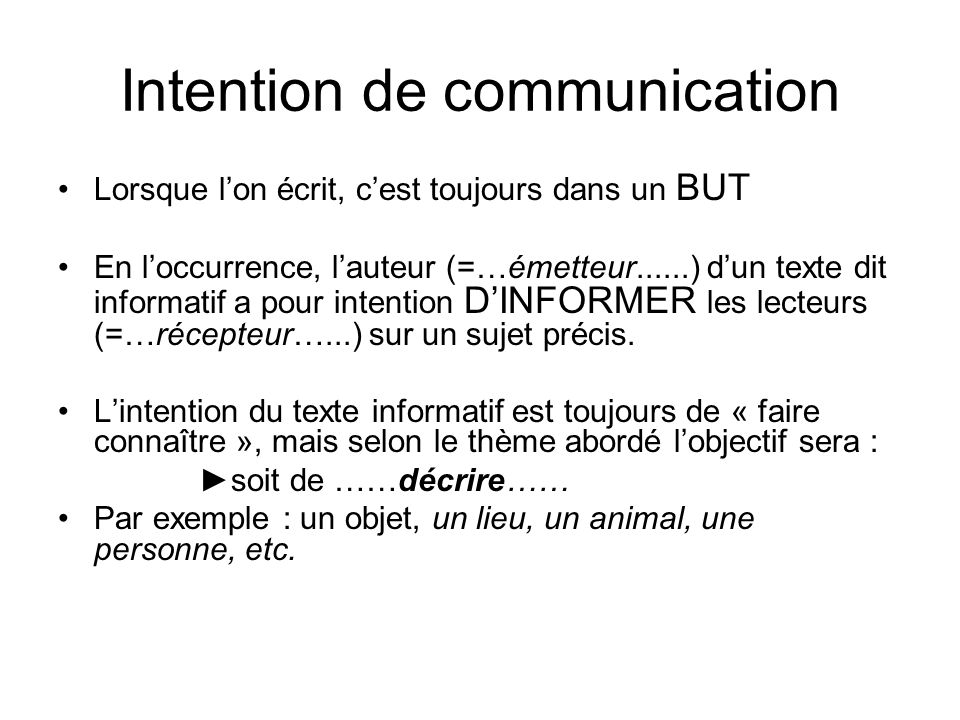 Intention de communication