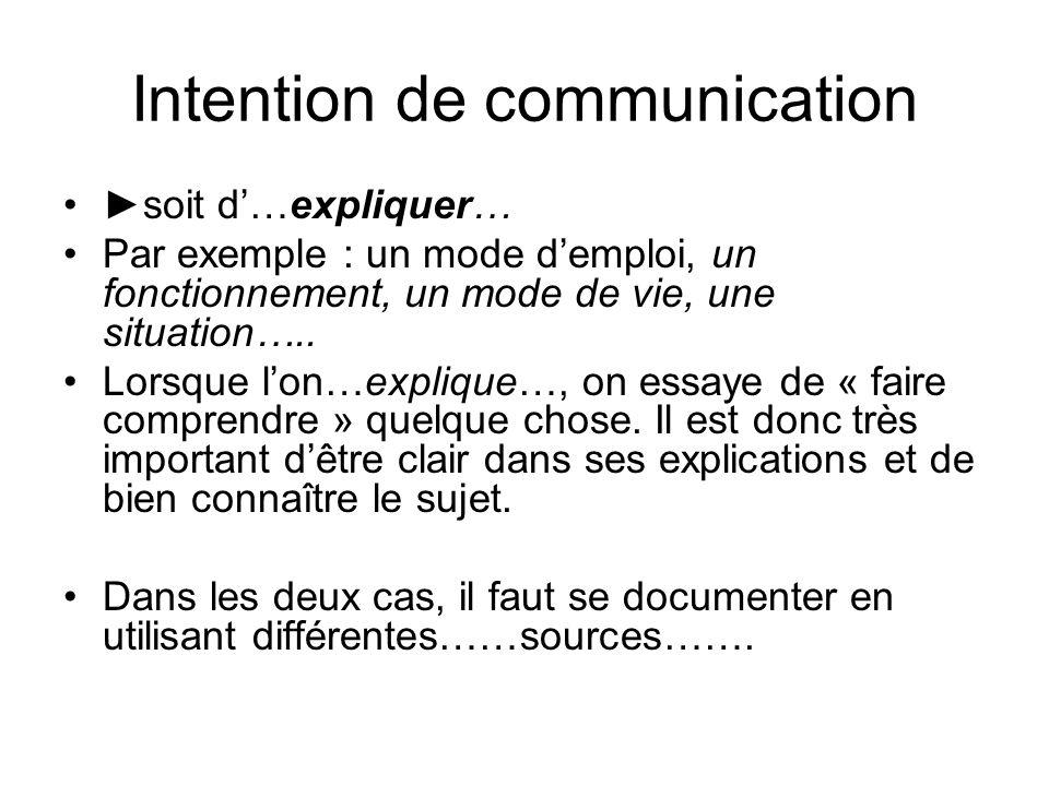 Intention de communication