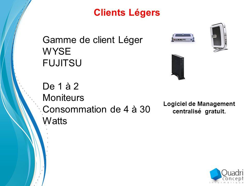 Logiciel de Management centralisé gratuit.