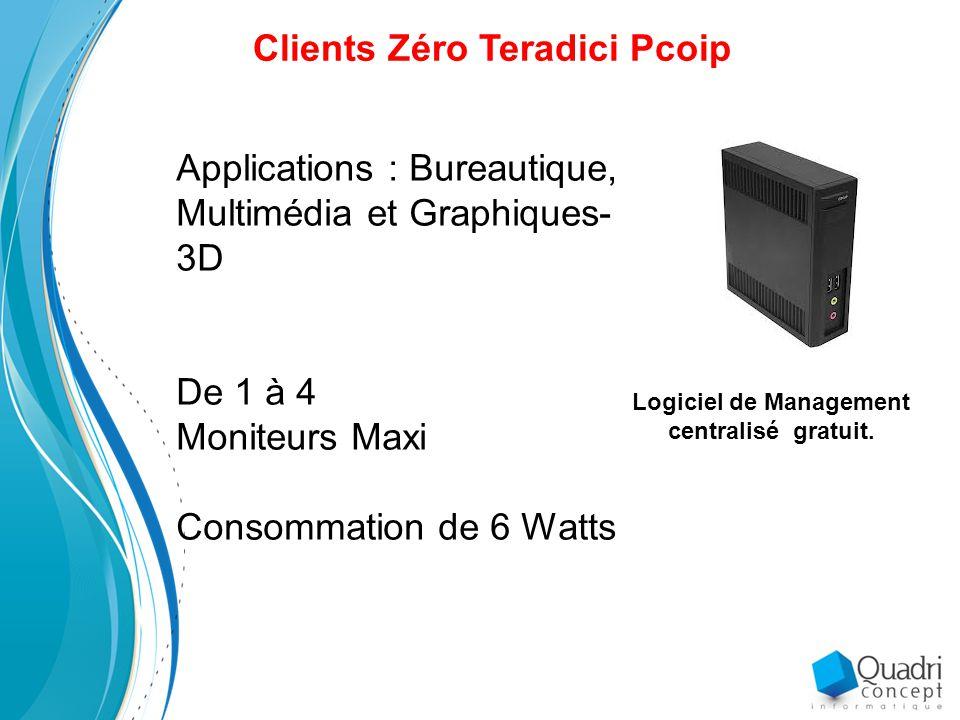 Clients Zéro Teradici Pcoip Logiciel de Management centralisé gratuit.