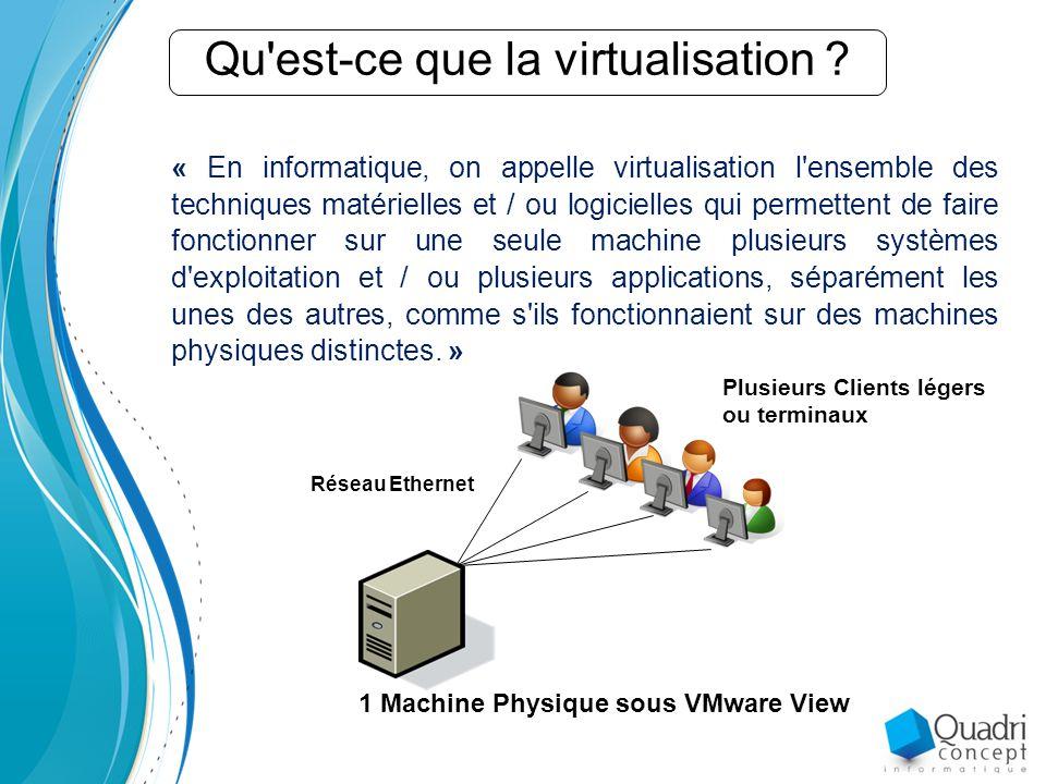 Qu est-ce que la virtualisation