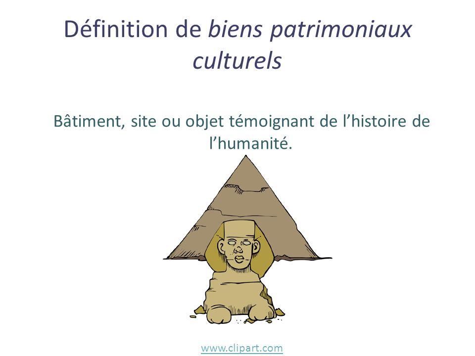 Définition de biens patrimoniaux culturels