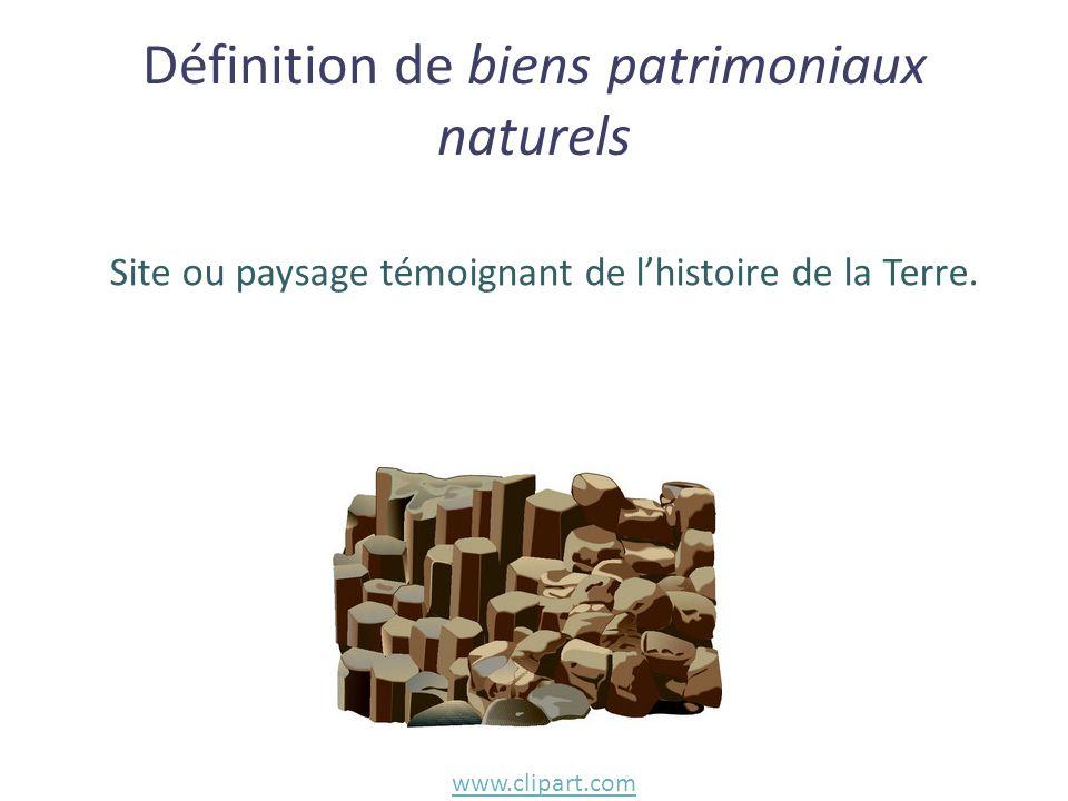 Définition de biens patrimoniaux naturels