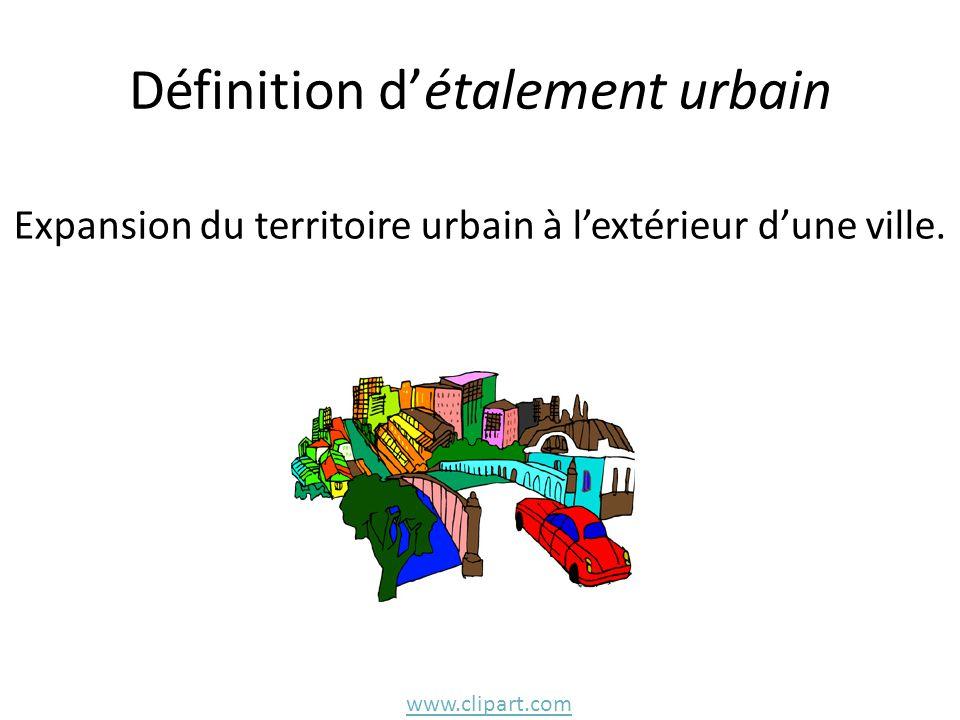 Définition d'étalement urbain