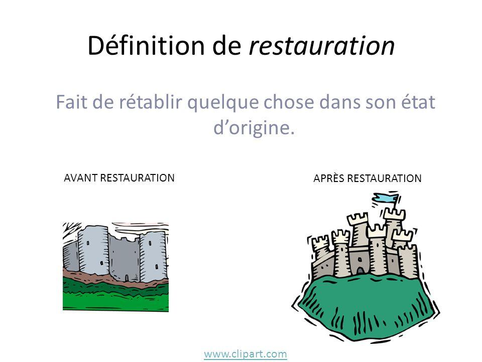 Définition de restauration