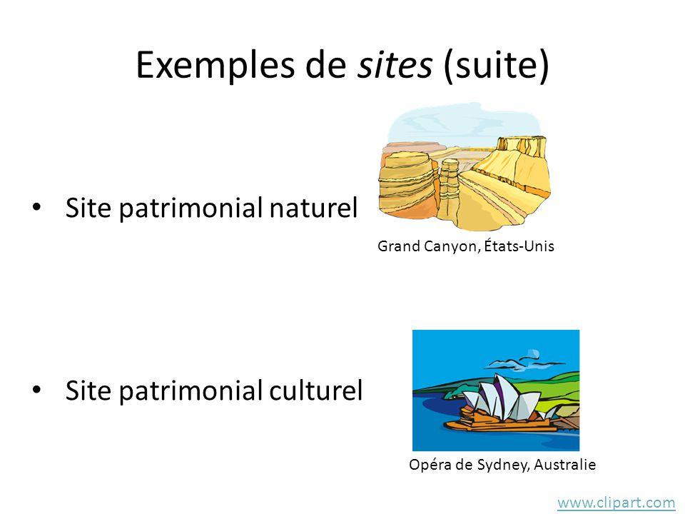 Exemples de sites (suite)