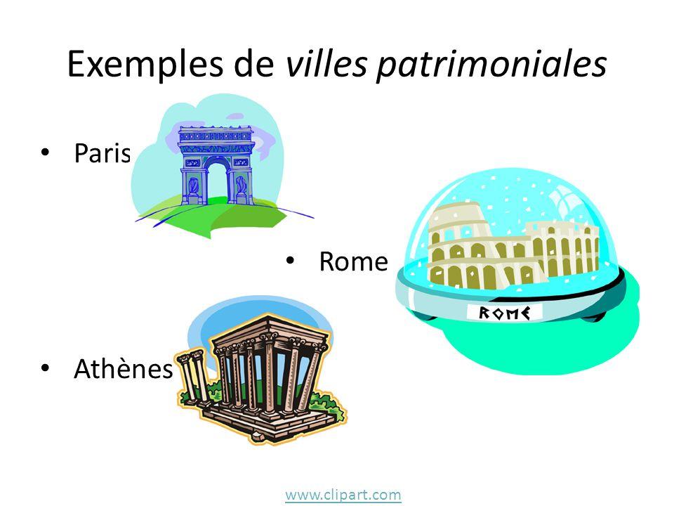 Exemples de villes patrimoniales