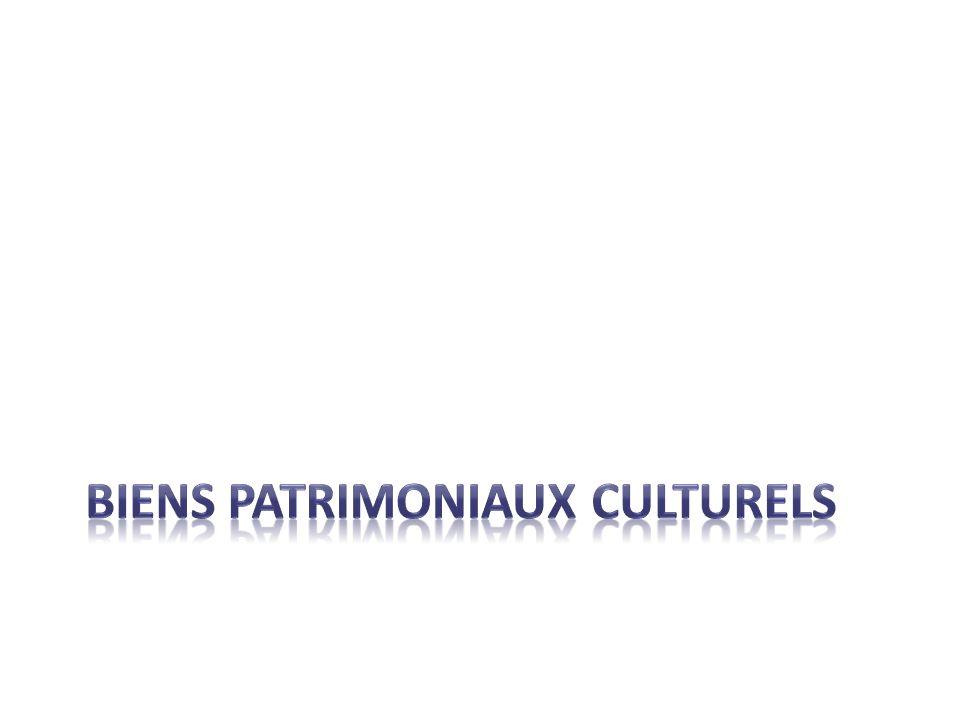 BIENS PATRIMONIAUX culturels