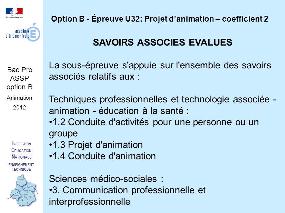 SAVOIRS ASSOCIES EVALUES ENSEIGNEMENT TECHNIQUE