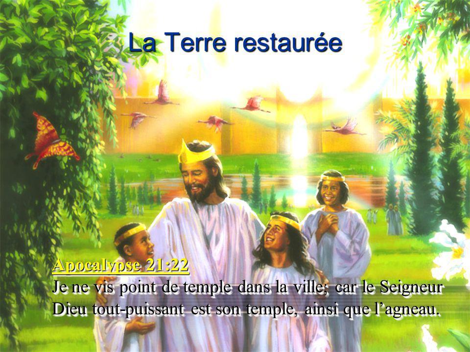 La Terre restaurée Apocalypse 21:22