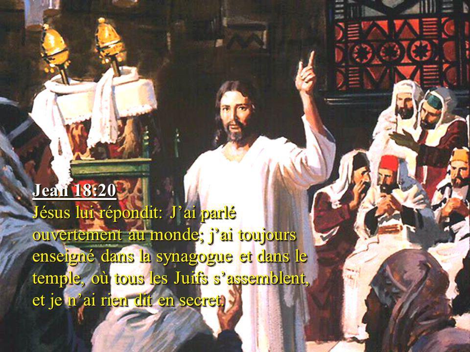 Jean 18:20