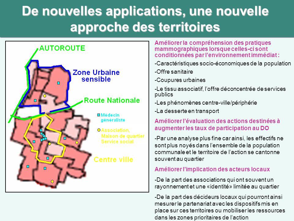De nouvelles applications, une nouvelle approche des territoires