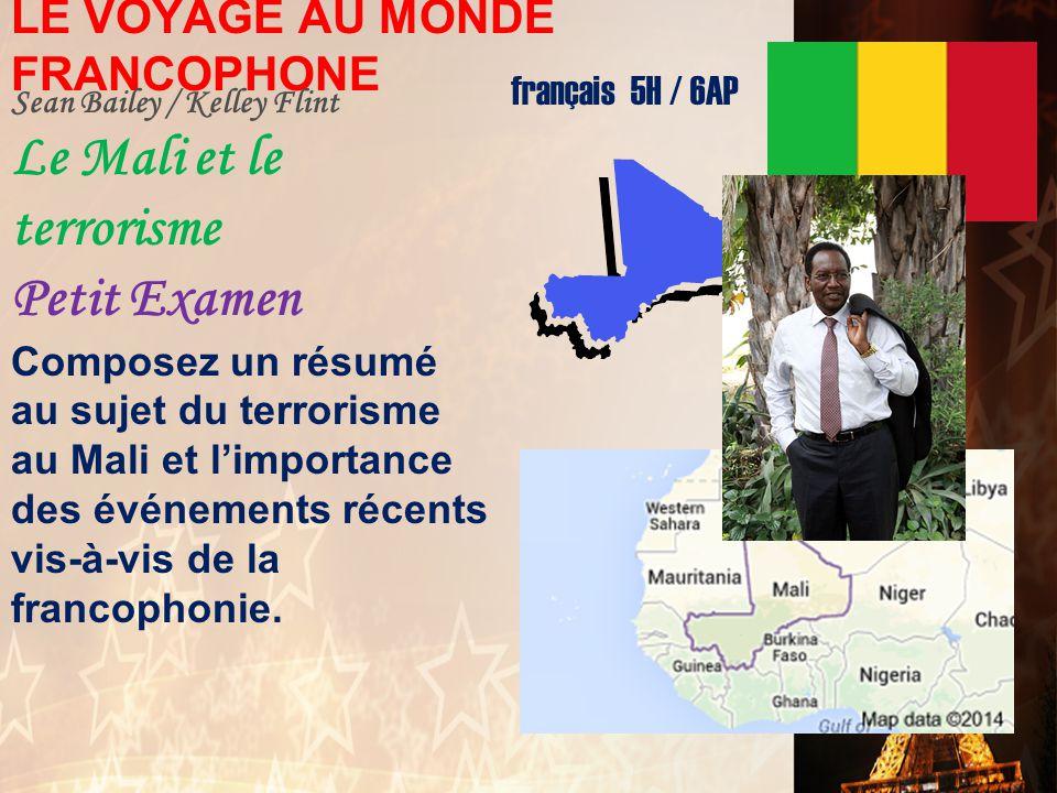 LE VOYAGE AU MONDE FRANCOPHONE
