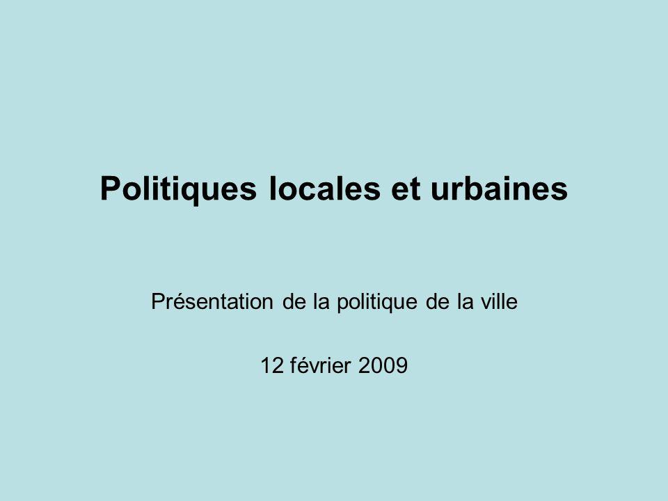 Politiques locales et urbaines