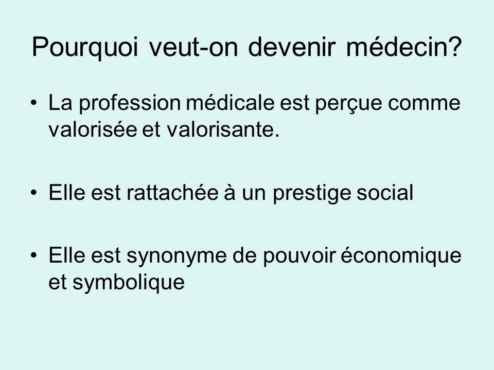 Pourquoi veut-on devenir médecin