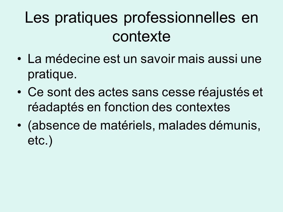 Les pratiques professionnelles en contexte
