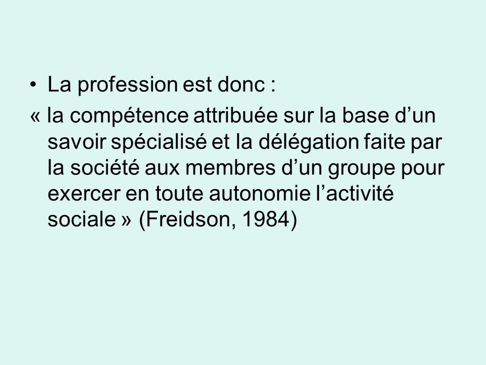 Les caractéristiques de la profession médicale (1)
