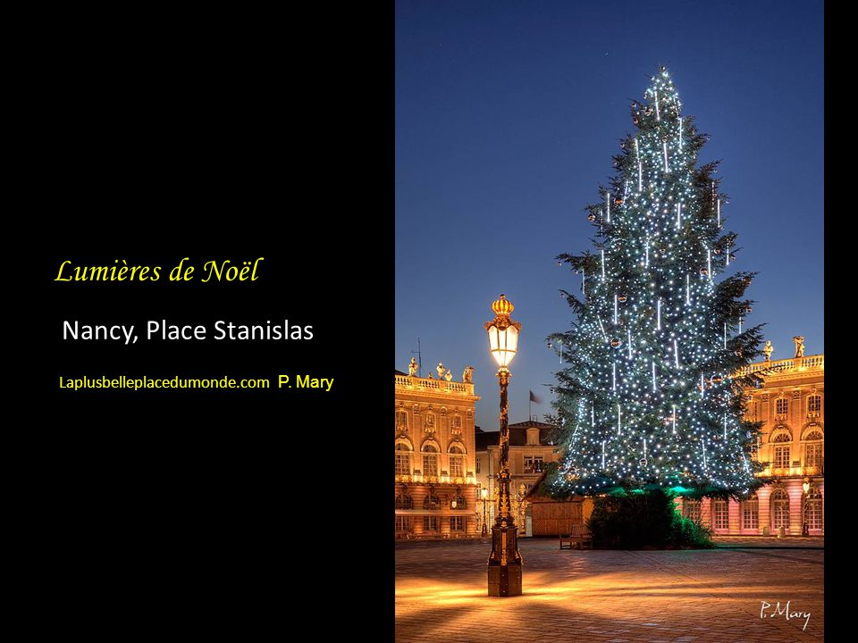 Nancy, Place Stanislas Lumières de Noël