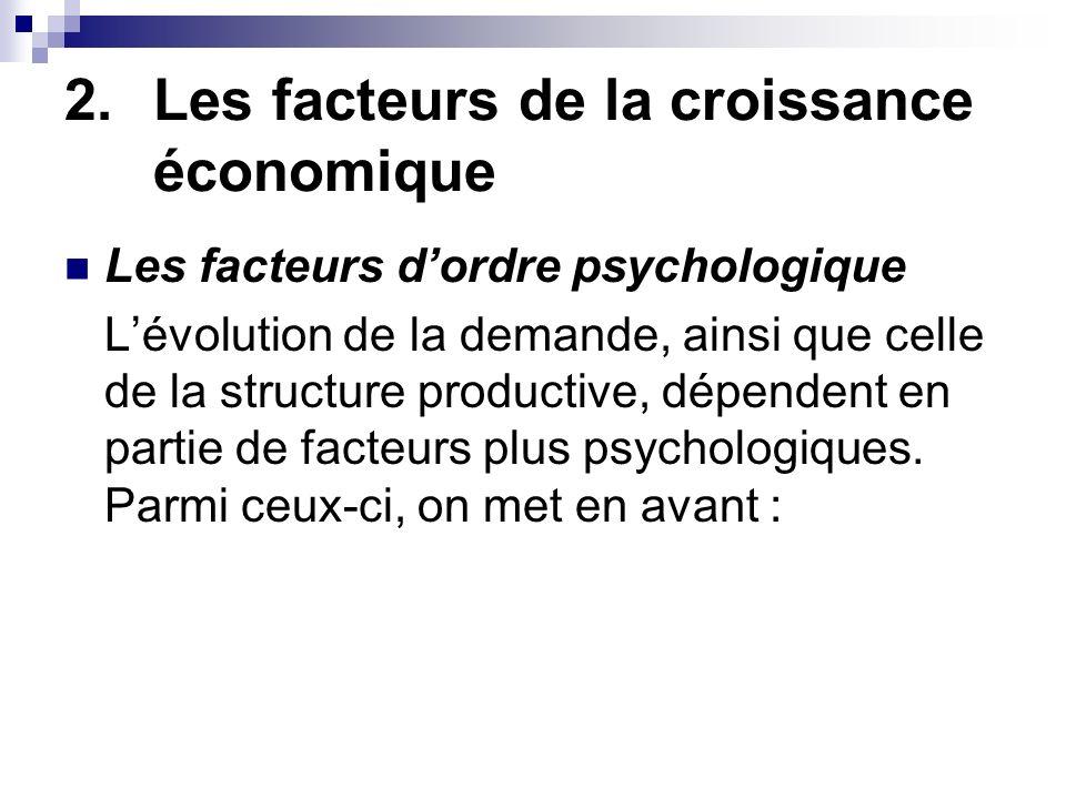 Les facteurs de la croissance économique