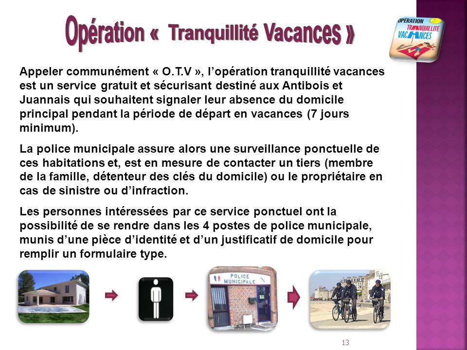 Opération « Tranquillité Vacances »