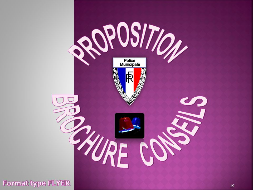 PROPOSITION BROCHURE CONSEILS Format type FLYER